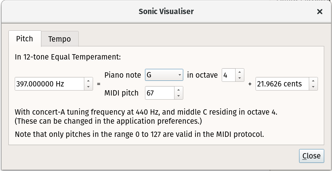 Sonic Visualiser: A Brief Reference