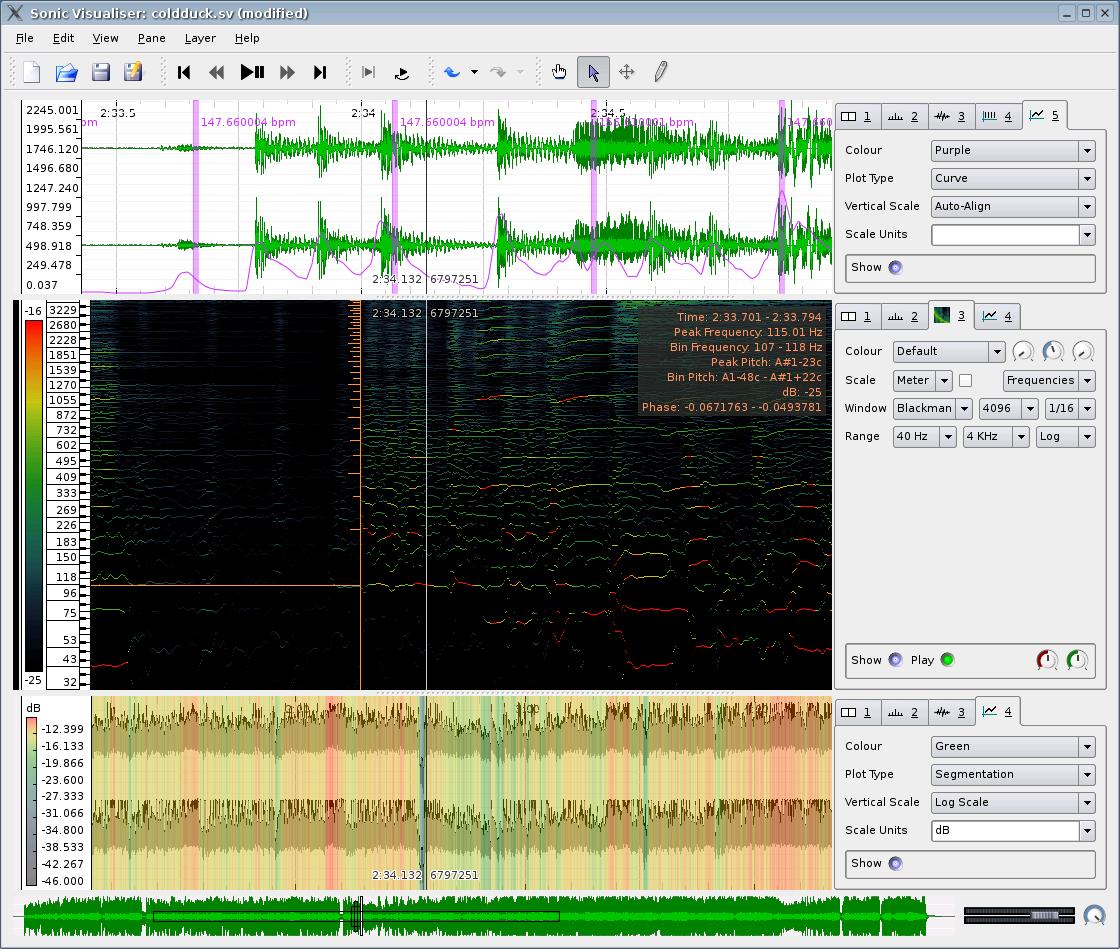 Sonic Visualiser for Linux screenshot